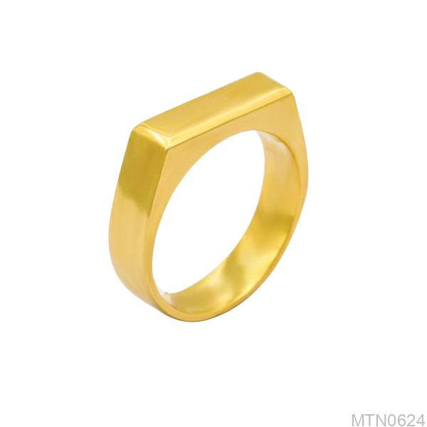 MTN0624-2 Nhẫn nam vàng trơn 18k