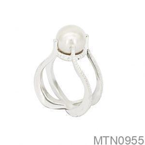 Nhẫn Nữ Vàng Trắng 10k Đính Ngọc Trai - MTN0955