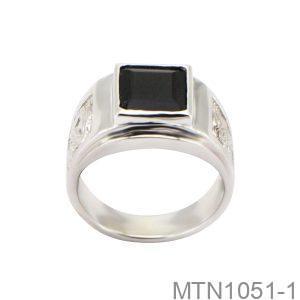 Nhẫn Nam Vàng Trắng 18k - MTN1051-1