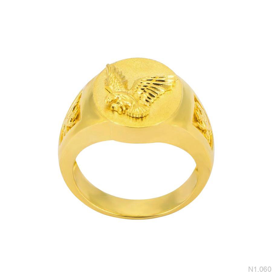 Nhẫn Nam Vàng Vàng 18k - N1.060