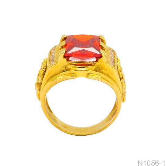 Nhẫn Nam Vàng Vàng 18K Đính Đá CZ - N1056-1