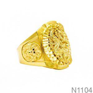 Nhẫn Nam Vàng Vàng 18K - N1104