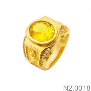Nhẫn Nam Vàng Vàng 18K Đính Đá CZ - N2.0018