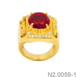 Nhẫn Nam Vàng 14K Đính Đá CZ - N2.0059-1