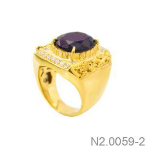 Nhẫn Nam Vàng 14K Đính Đá CZ - N2.0059-2