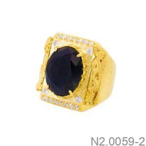 Nhẫn Nam Vàng Vàng 14K Đính Đá CZ - N2.0059-2