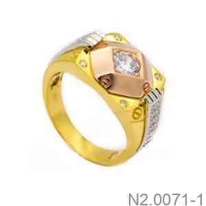 Nhẫn Nam Vàng 10k Đính Đá CZ - N2.0071-1