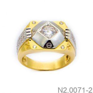 Nhẫn Nam Vàng 10k Đính Đá CZ -  N2.0071-2