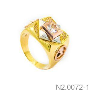 Nhẫn Nam Vàng 10k Đính Đá CZ - N2.0072-1