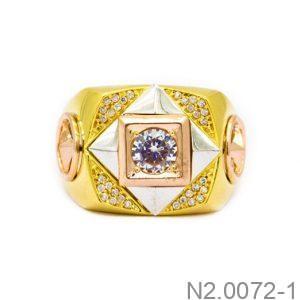 Nhẫn Nam Vàng Vàng 10k Đính Đá CZ - N2.0072-1