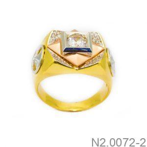 Nhẫn Nam Vàng 10k Đính Đá CZ - N2.0072-2