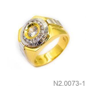Nhẫn Nam Vàng 10k Đính Đá CZ - N2.0073-1