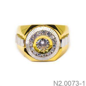 Nhẫn Nam Vàng Vàng 10k Đính Đá CZ - N2.0073-1