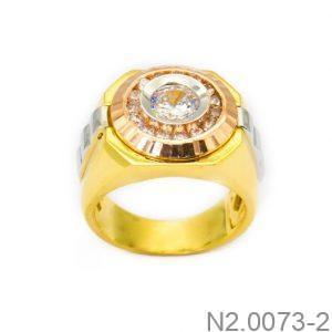 Nhẫn Nam Vàng Vàng 10k Đính Đá CZ - N2.0073-2