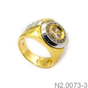 Nhẫn Nam Vàng 10k Đính Đá CZ - N2.0073-3