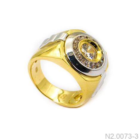 Nhẫn Nam Vàng Vàng 10k Đính Đá CZ - N2.0073-3