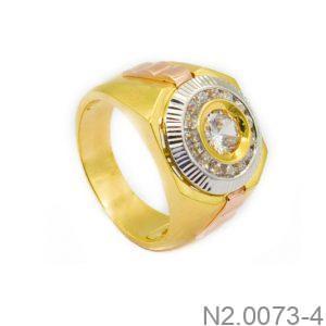 Nhẫn Nam Vàng 10k Đính Đá CZ - N2.0073-4