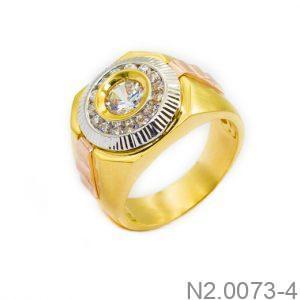 Nhẫn Nam Vàng Vàng 10k Đính Đá CZ - N2.0073-4