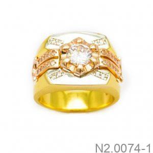 Nhẫn Nam Vàng 10k Đính Đá CZ - N2.0074-1