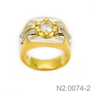 Nhẫn Nam Vàng Vàng 10k Đính Đá CZ - N2.0074-2