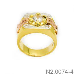 Nhẫn Nam Vàng 10K Đính Đá CZ - N2.0074-4