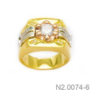 Nhẫn Nam Vàng Vàng 10K Đính Đá CZ - N2.0074-6