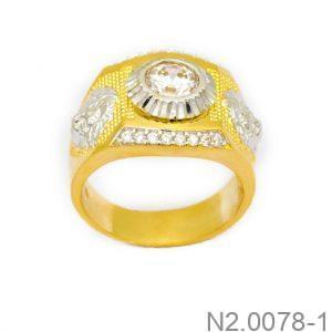 Nhẫn Nam Vàng 10K Đính Đá CZ - N2.0078-1