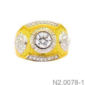 Nhẫn Nam Vàng Vàng 10K Đính Đá CZ - N2.0078-1