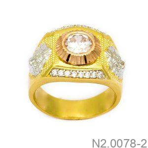 Nhẫn Nam Vàng 10K Đính Đá CZ -N2.0078-2