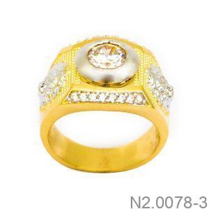 Nhẫn Nam Vàng 10K Đính Đá CZ - N2.0078-3