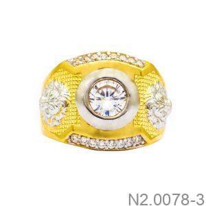 Nhẫn Nam Vàng Vàng 10K Đính Đá CZ - N2.0078-3