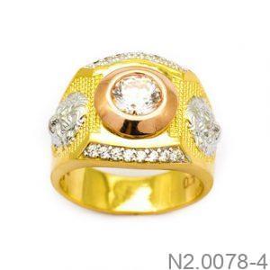 Nhẫn Nam Vàng Vàng 10K Đính Đá CZ - N2.0078-4
