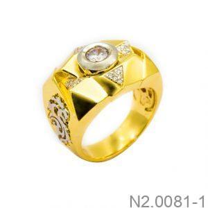 Nhẫn Nam Vàng Vàng 10K Đính Đá CZ - N2.0081-1
