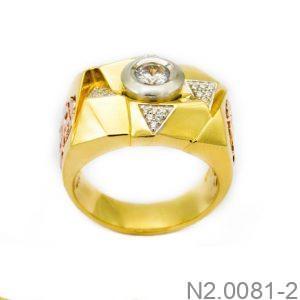 Nhẫn Nam Vàng Vàng 10K Đính Đá CZ - N2.0081-2