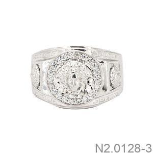 Nhẫn Nam Versace Vàng Trắng 10k - N2.0128-3