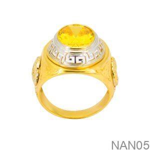 Nhẫn Nam Vàng 18K Đính Đá CZ - NAN05