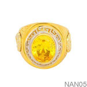 Nhẫn Nam Vàng Vàng 18K Đính Đá CZ - NAN05