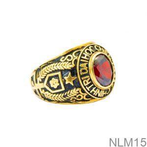 Nhẫn Mỹ Vàng Vàng 10K Đá Đỏ - NLM15