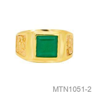Nhẫn Nam Vàng Vàng 18k - MTN1051-2
