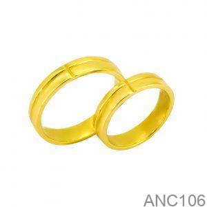 Nhẫn Cưới Vàng Vàng 18k - ANC106