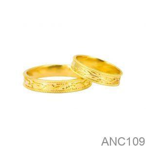 Nhẫn Cưới Vàng Vàng 18k Đính Đá CZ - ANC109