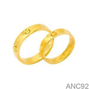 Nhẫn Cưới Vàng Vàng 18k Đính Đá CZ - ANC92