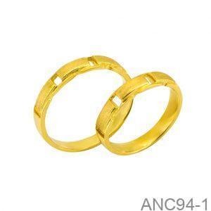 Nhẫn Cưới Vàng Vàng 18k Đính Đá CZ - ANC94-1