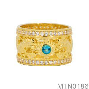 Nhẫn Nam Vàng Vàng 18K Đính Đá CZ - MTN0186