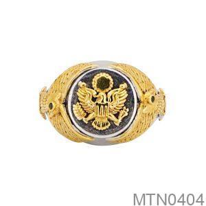 Nhẫn Nam Hai Màu Vàng 10K - MTN0404