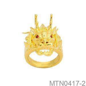 Nhẫn Nam Vàng Vàng 18K Đính Đá CZ - MTN0417-2