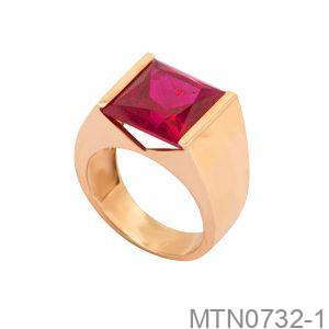 Nhẫn Nam Vàng Vàng 18K Đính Đá CZ - MTN0732-1