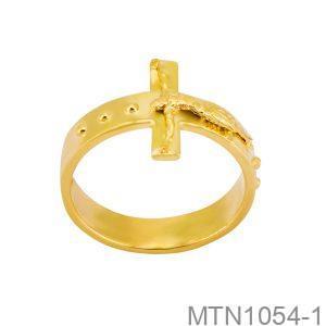 Nhẫn Kiểu Nam APJ Vàng 18k - MTN1054-1