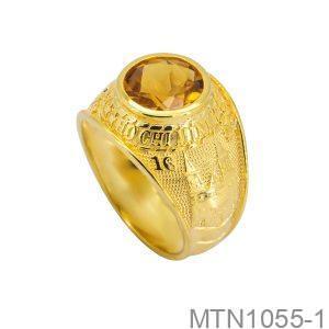 Nhẫn Nam Vàng Vàng 18K Đính Đá CZ - MTN1055-1