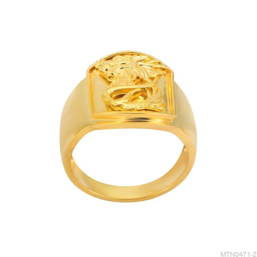 Nhẫn Nam Vàng Vàng 18K - MTN0471-2